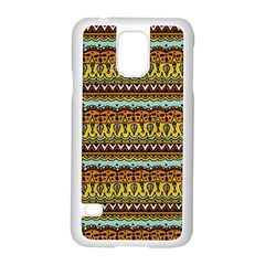 Bohemian Fabric Pattern Samsung Galaxy S5 Case (white) by BangZart