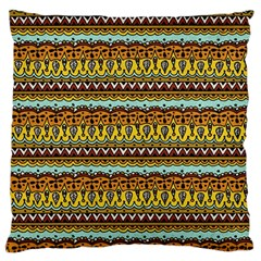 Bohemian Fabric Pattern Large Flano Cushion Case (two Sides) by BangZart