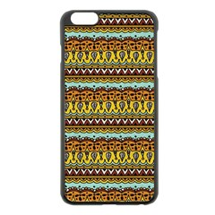Bohemian Fabric Pattern Apple Iphone 6 Plus/6s Plus Black Enamel Case
