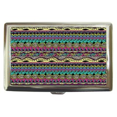 Aztec Pattern Cool Colors Cigarette Money Cases by BangZart