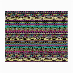Aztec Pattern Cool Colors Small Glasses Cloth by BangZart