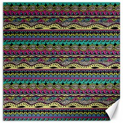 Aztec Pattern Cool Colors Canvas 16  X 16   by BangZart