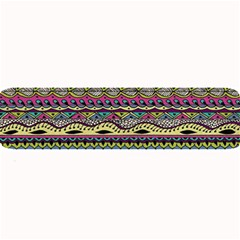 Aztec Pattern Cool Colors Large Bar Mats by BangZart