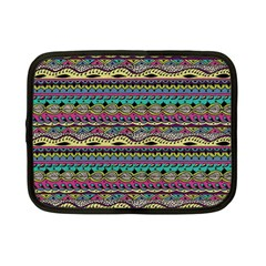 Aztec Pattern Cool Colors Netbook Case (small)  by BangZart