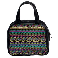 Aztec Pattern Cool Colors Classic Handbags (2 Sides) by BangZart