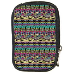 Aztec Pattern Cool Colors Compact Camera Cases by BangZart