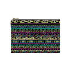 Aztec Pattern Cool Colors Cosmetic Bag (medium)  by BangZart