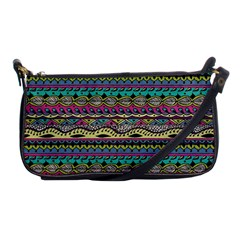 Aztec Pattern Cool Colors Shoulder Clutch Bags by BangZart