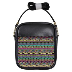 Aztec Pattern Cool Colors Girls Sling Bags by BangZart
