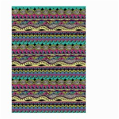 Aztec Pattern Cool Colors Small Garden Flag (two Sides) by BangZart