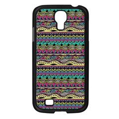Aztec Pattern Cool Colors Samsung Galaxy S4 I9500/ I9505 Case (black) by BangZart