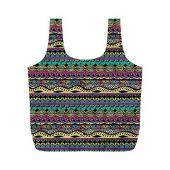 Aztec Pattern Cool Colors Full Print Recycle Bags (m)  by BangZart