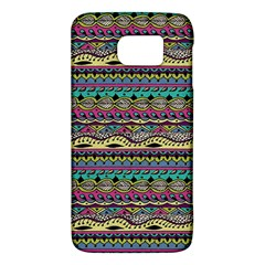 Aztec Pattern Cool Colors Galaxy S6 by BangZart