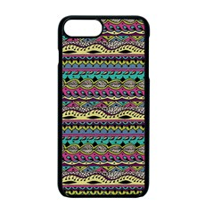 Aztec Pattern Cool Colors Apple Iphone 7 Plus Seamless Case (black) by BangZart