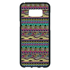 Aztec Pattern Cool Colors Samsung Galaxy S8 Plus Black Seamless Case by BangZart