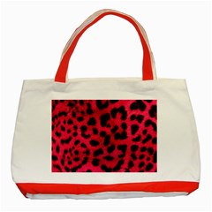 Leopard Skin Classic Tote Bag (red) by BangZart