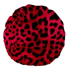 Leopard Skin Large 18  Premium Flano Round Cushions by BangZart