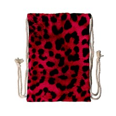 Leopard Skin Drawstring Bag (small) by BangZart