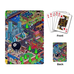 Pixel Art City Playing Card by BangZart