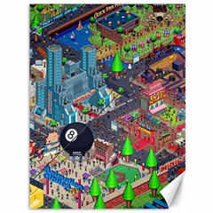 Pixel Art City Canvas 36  X 48   by BangZart