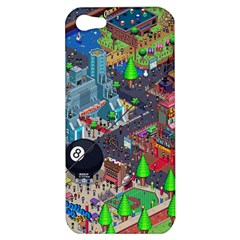 Pixel Art City Apple Iphone 5 Hardshell Case by BangZart