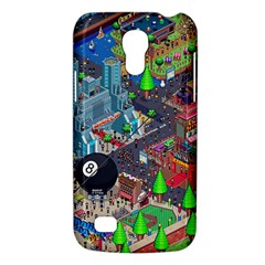 Pixel Art City Galaxy S4 Mini by BangZart