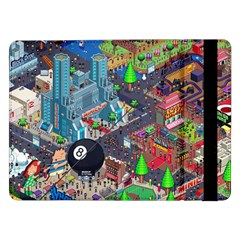 Pixel Art City Samsung Galaxy Tab Pro 12 2  Flip Case by BangZart