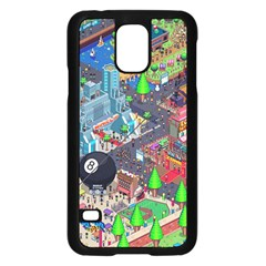 Pixel Art City Samsung Galaxy S5 Case (black) by BangZart