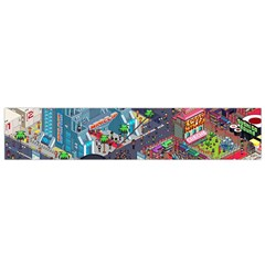 Pixel Art City Flano Scarf (small) by BangZart