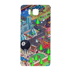 Pixel Art City Samsung Galaxy Alpha Hardshell Back Case by BangZart