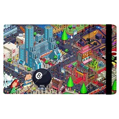 Pixel Art City Apple Ipad Pro 9 7   Flip Case by BangZart
