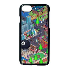 Pixel Art City Apple Iphone 7 Seamless Case (black) by BangZart