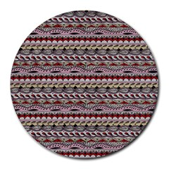 Aztec Pattern Patterns Round Mousepads by BangZart