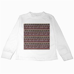 Aztec Pattern Patterns Kids Long Sleeve T Shirts by BangZart