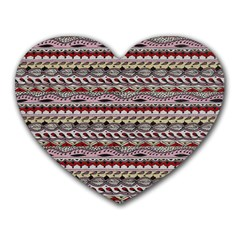 Aztec Pattern Patterns Heart Mousepads by BangZart