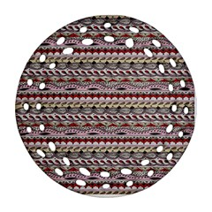 Aztec Pattern Patterns Ornament (round Filigree) by BangZart
