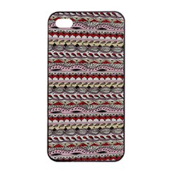 Aztec Pattern Patterns Apple Iphone 4/4s Seamless Case (black) by BangZart