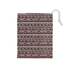 Aztec Pattern Patterns Drawstring Pouches (medium)  by BangZart
