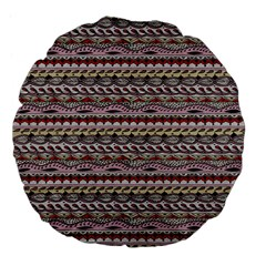 Aztec Pattern Patterns Large 18  Premium Flano Round Cushions by BangZart
