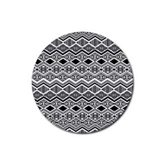 Aztec Design  Pattern Rubber Coaster (round)  by BangZart