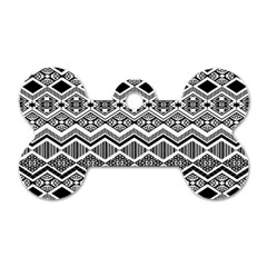 Aztec Design  Pattern Dog Tag Bone (two Sides) by BangZart