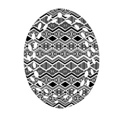 Aztec Design  Pattern Oval Filigree Ornament (two Sides) by BangZart
