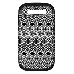 Aztec Design  Pattern Samsung Galaxy S Iii Hardshell Case (pc+silicone) by BangZart