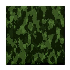 Camouflage Green Army Texture Tile Coasters by BangZart