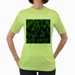 Camouflage Green Army Texture Women s Green T Shirt by BangZart