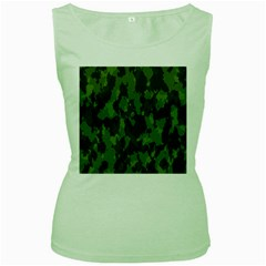 Camouflage Green Army Texture Women s Green Tank Top by BangZart