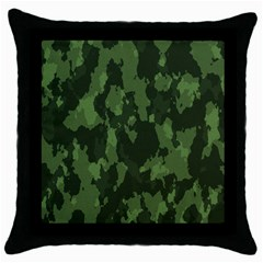 Camouflage Green Army Texture Throw Pillow Case (black) by BangZart