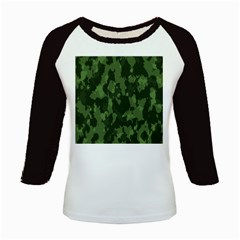 Camouflage Green Army Texture Kids Baseball Jerseys by BangZart