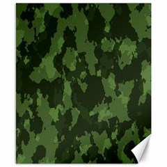 Camouflage Green Army Texture Canvas 8  X 10  by BangZart