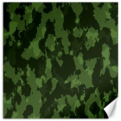 Camouflage Green Army Texture Canvas 12  X 12   by BangZart